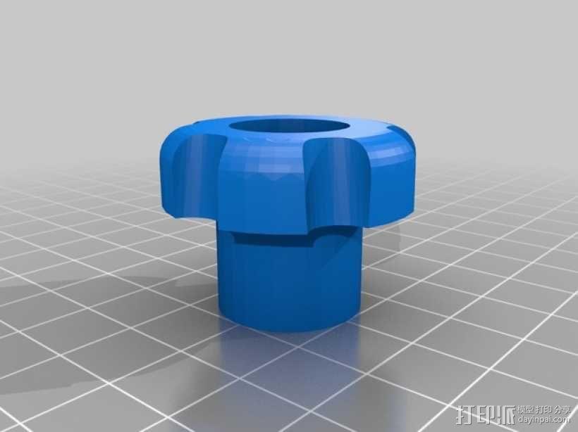 铣削台锁紧螺帽 3D模型  图2