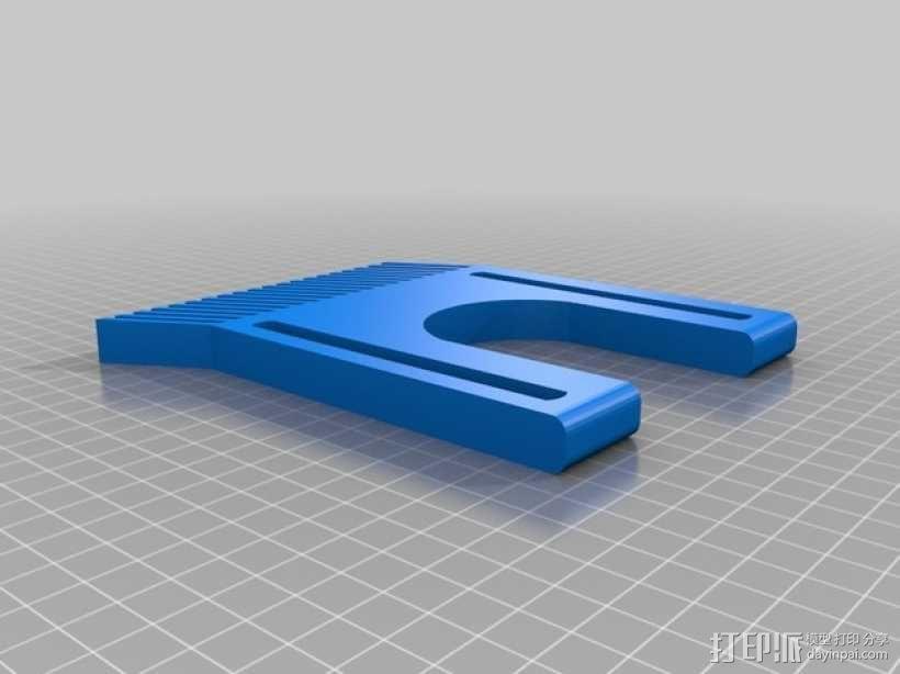 铣削台锁紧螺帽 3D模型  图3