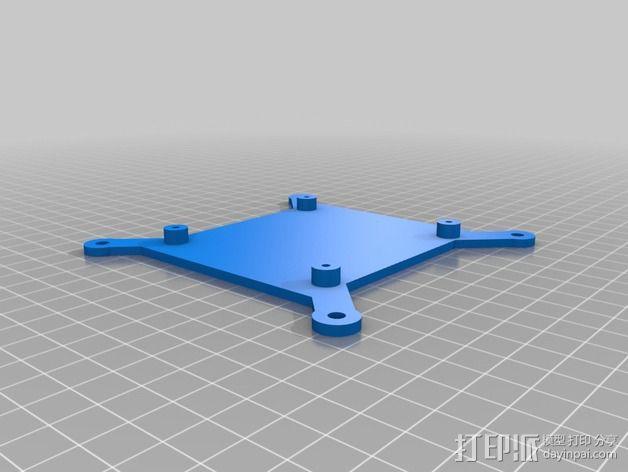 壁挂式树莓派电路板底座 3D模型  图2