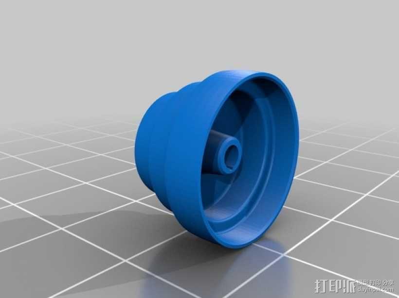 锥形皮带盘  3D模型  图1