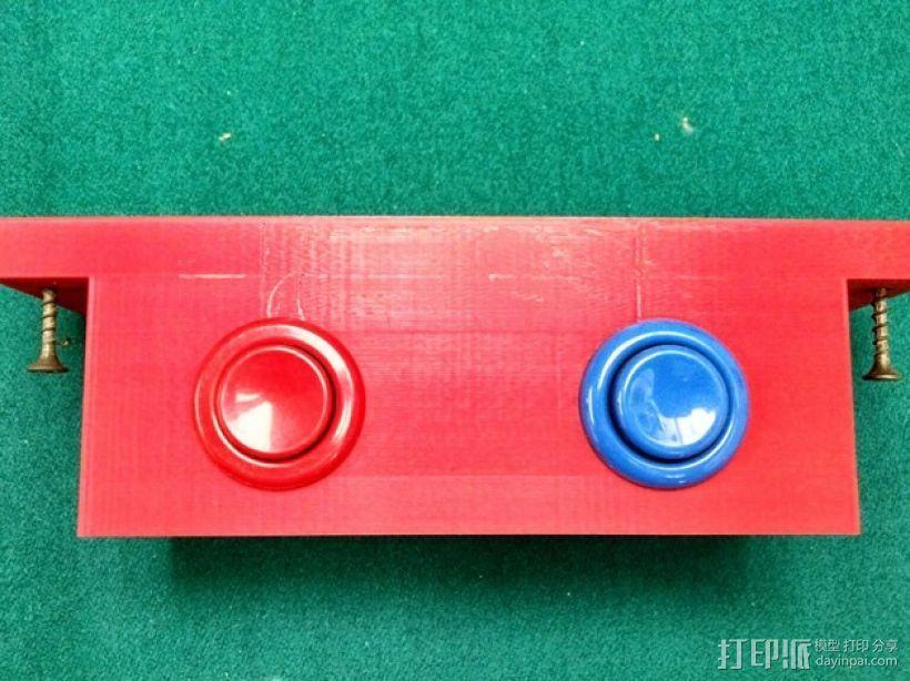 推圆盘游戏 计分按钮底座 3D模型  图1
