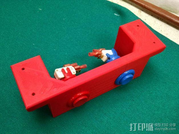 推圆盘游戏 计分按钮底座 3D模型  图2