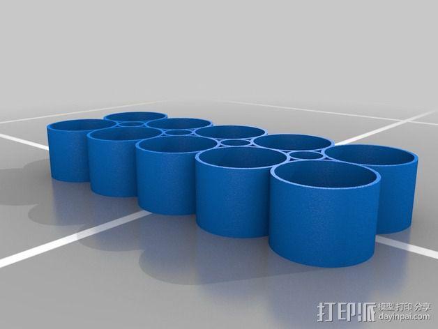 调漆皿底座 3D模型  图2