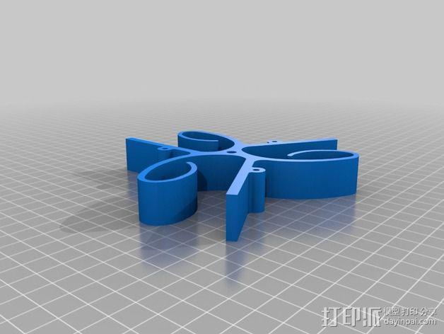 车床三爪卡盘 3D模型  图2