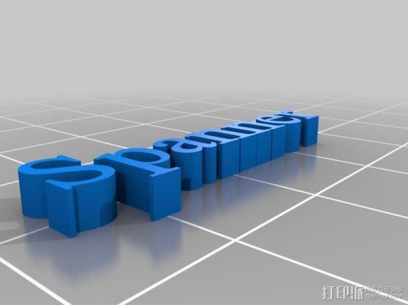 可调扳手 3D模型  图3