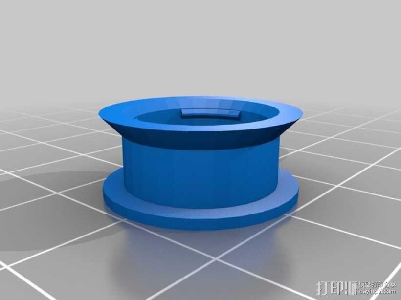参数化空转轮 3D模型  图1