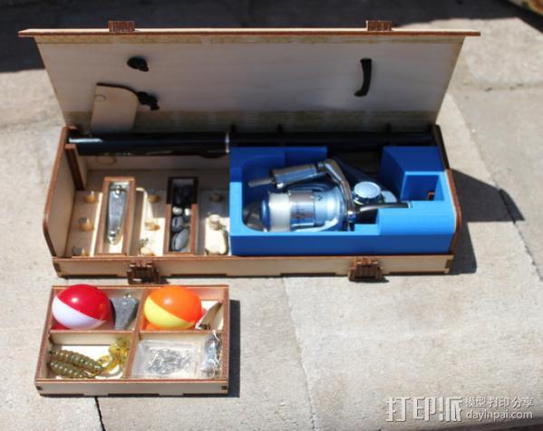 钓鱼竿 迷你工具盒 3D模型  图6