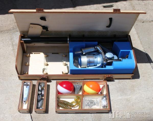 钓鱼竿 迷你工具盒 3D模型  图5
