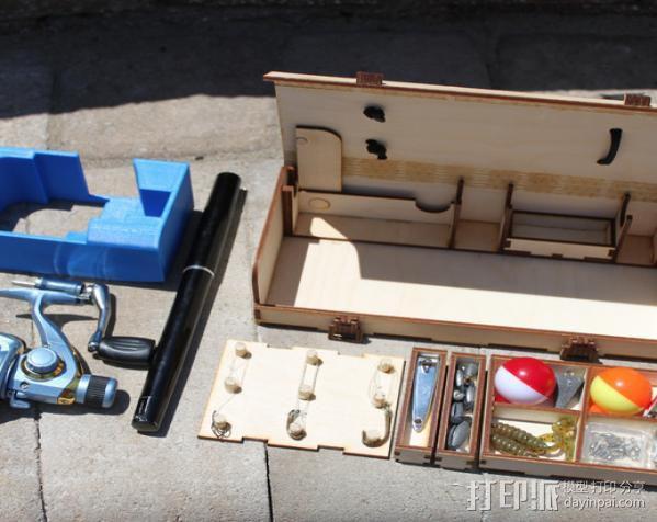 钓鱼竿 迷你工具盒 3D模型  图4