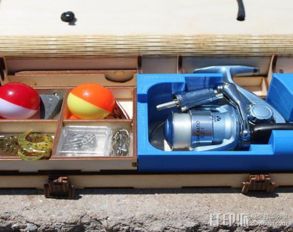 钓鱼竿 迷你工具盒 3D模型  图7