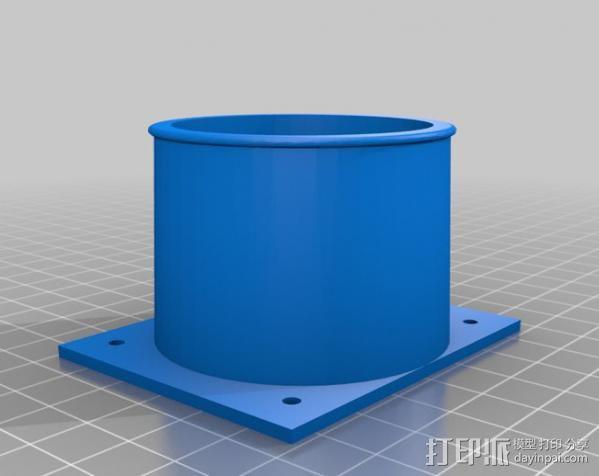 ShopVac真空吸尘器 旋风分离器 3D模型  图14