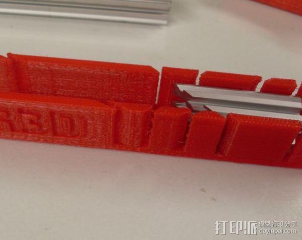 钢锯条收纳架 3D模型  图2