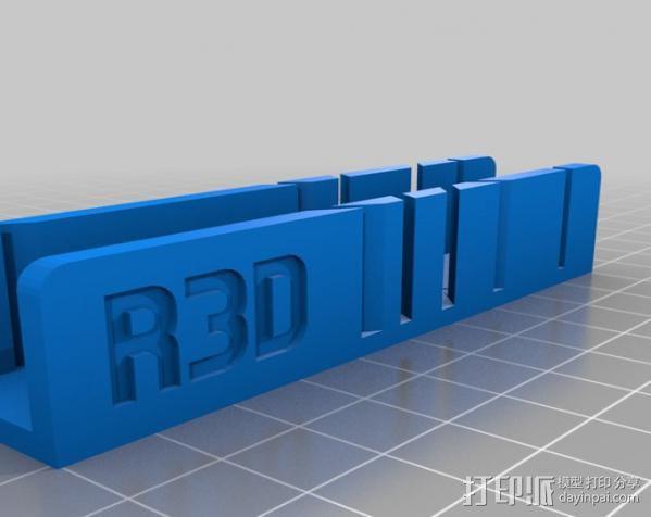 钢锯条收纳架 3D模型  图1