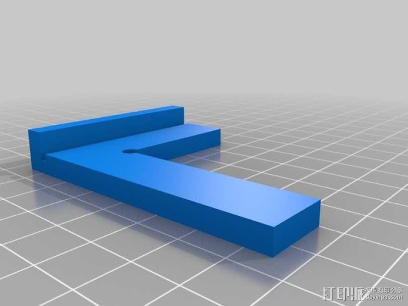 丁字尺 3D模型  图4