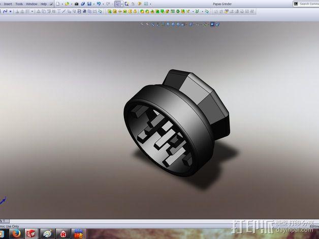 研磨机 3D模型  图2