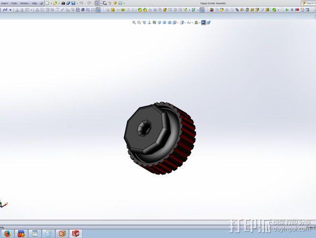 研磨机 3D模型  图3