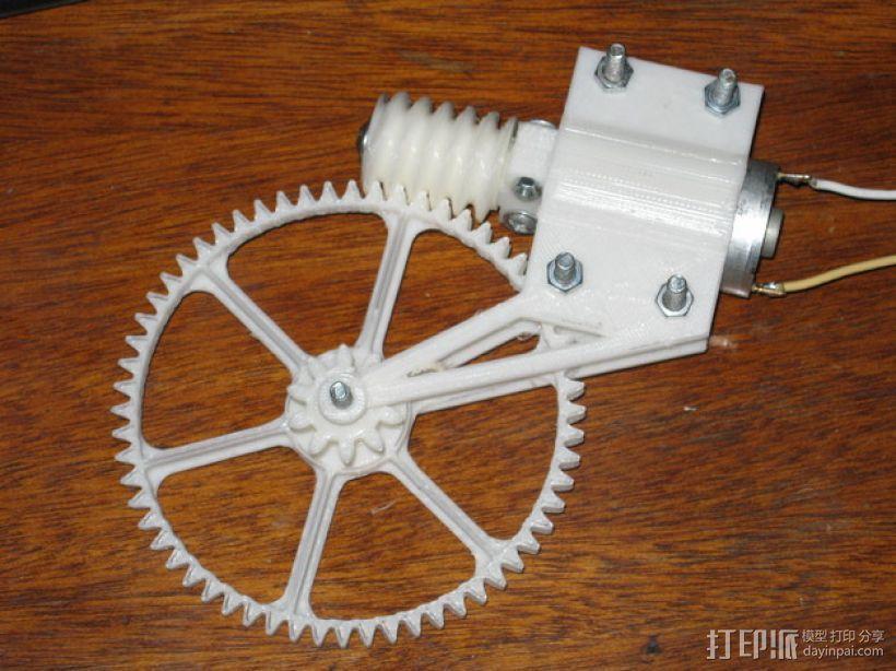 齿轮减速器  3D模型  图1