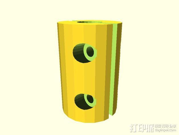 定制化耦合器 3D模型  图2