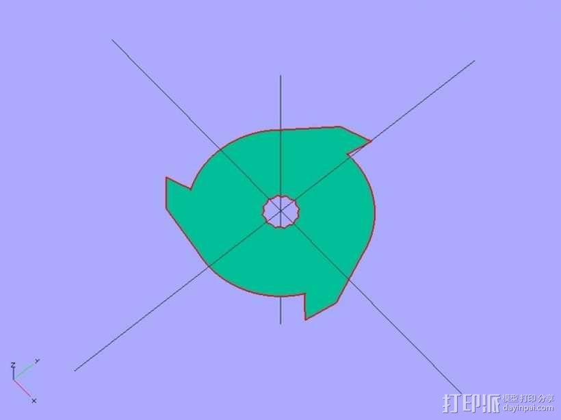 定制化碎纸机刀片 3D模型  图2