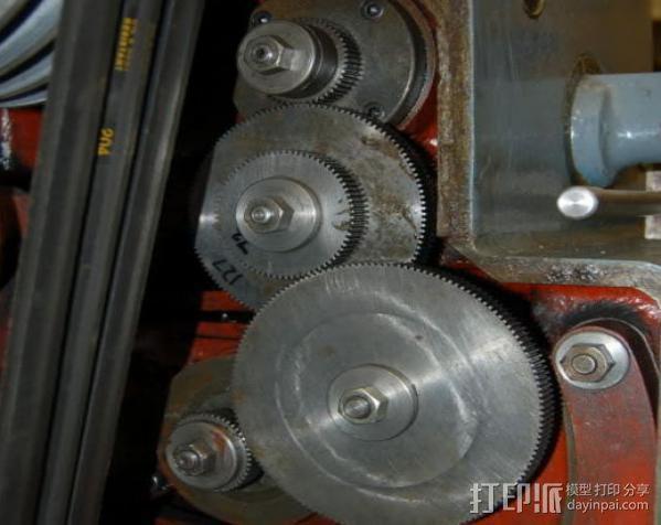 CVA车床变速齿轮组 3D模型  图6