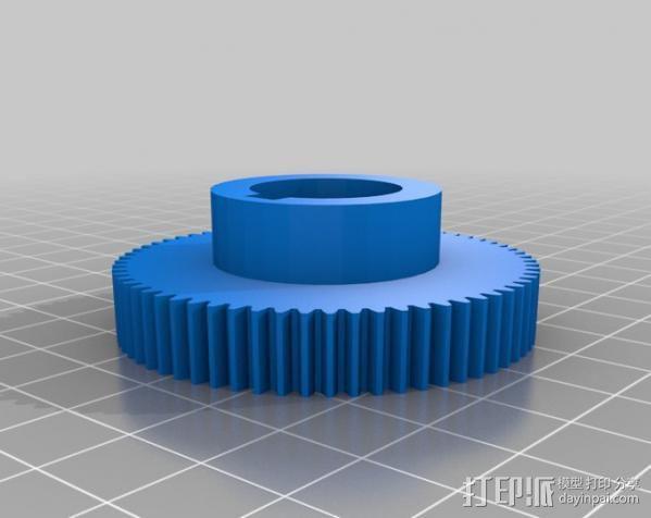CVA车床变速齿轮组 3D模型  图14