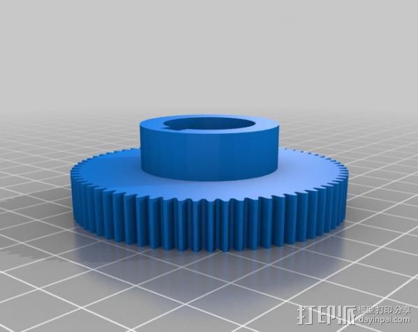 CVA车床变速齿轮组 3D模型  图15