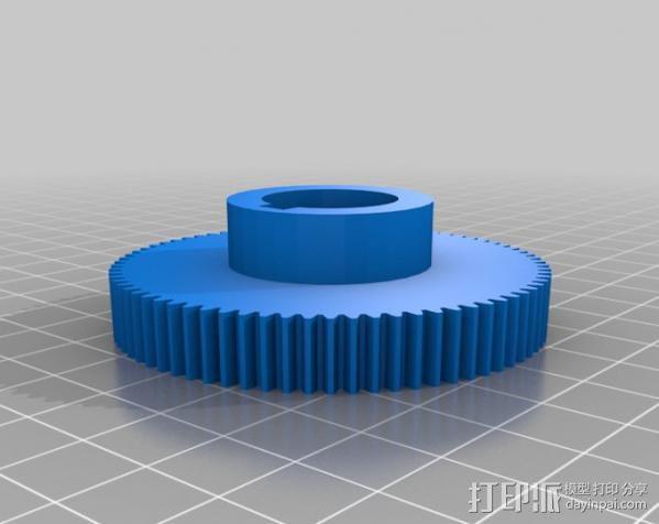CVA车床变速齿轮组 3D模型  图16
