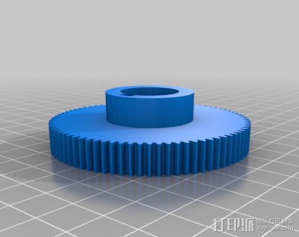 CVA车床变速齿轮组 3D模型  图17