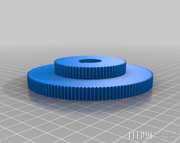 CVA车床变速齿轮组 3D模型  图18