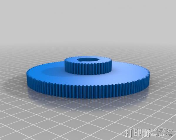 CVA车床变速齿轮组 3D模型  图19