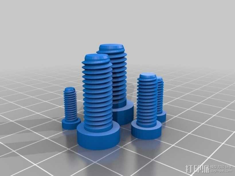螺丝 3D模型  图1