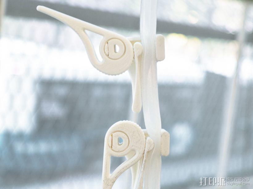 可调节夹管阀 3D模型  图1