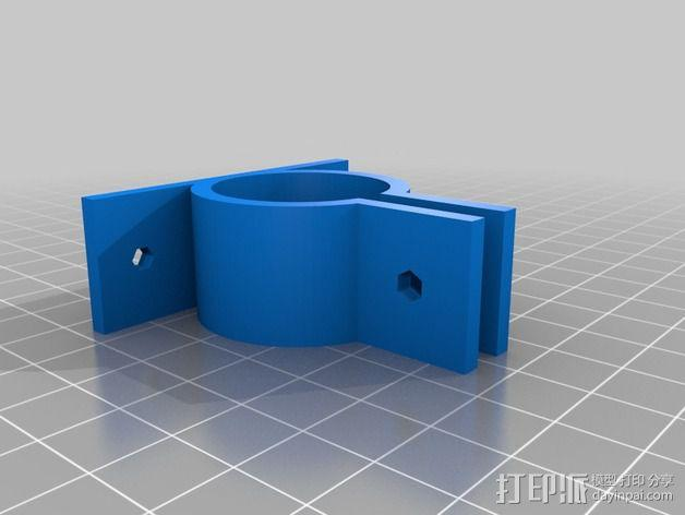 参数化PVC管夹 3D模型  图2