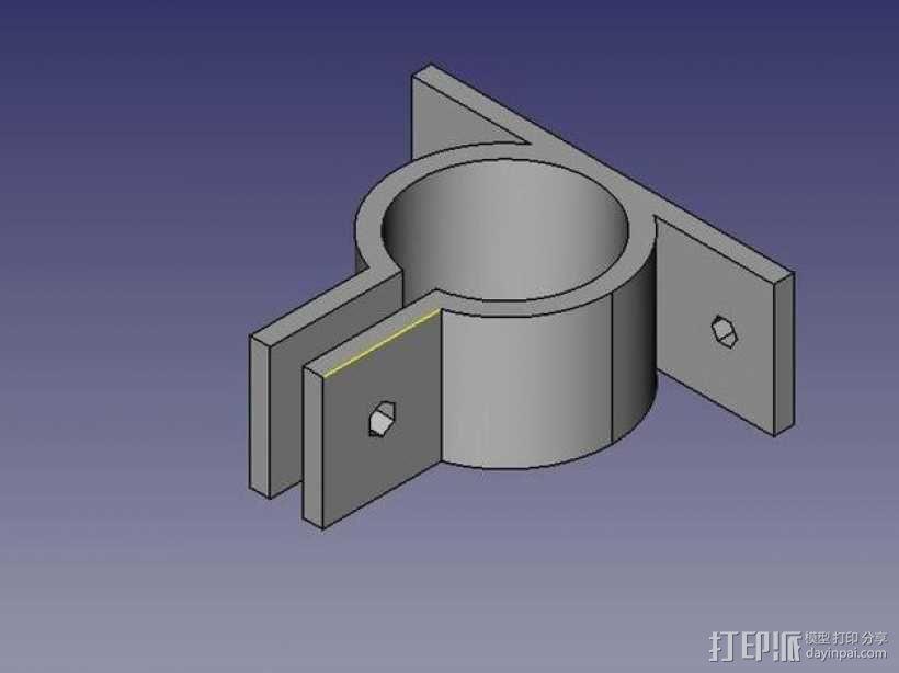 参数化PVC管夹 3D模型  图1