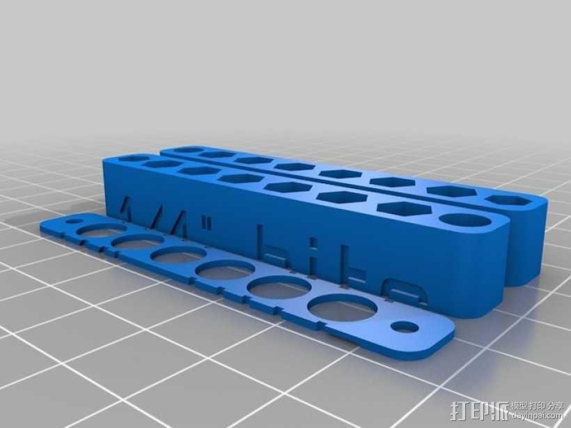 双面六角钻套 3D模型  图3