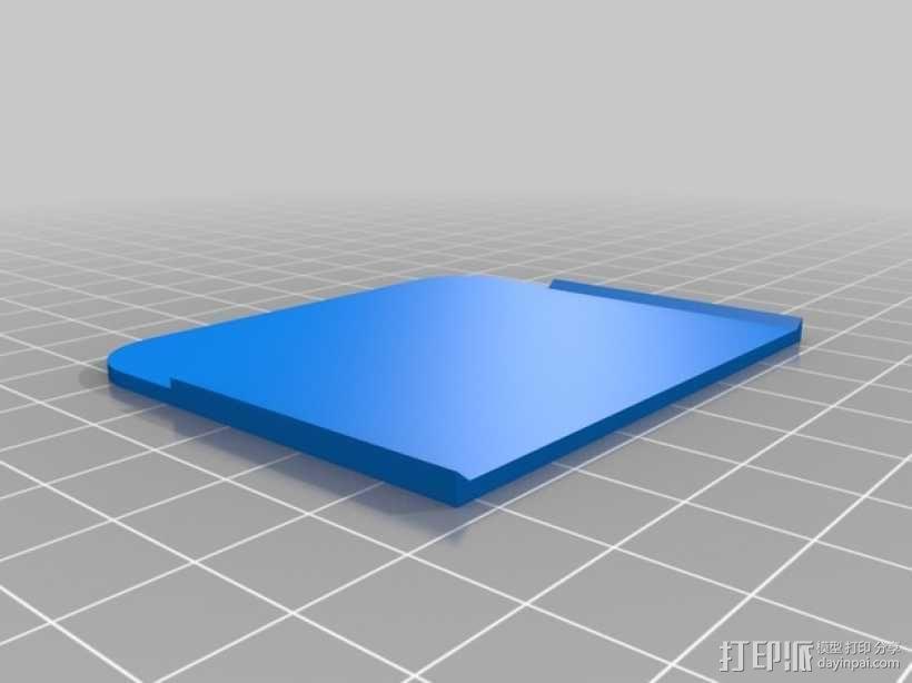 收纳箱隔板 3D模型  图2