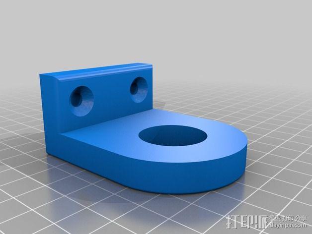 莫氏圆锥固定架 3D模型  图3