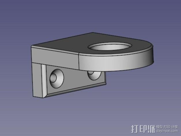 莫氏圆锥固定架 3D模型  图2