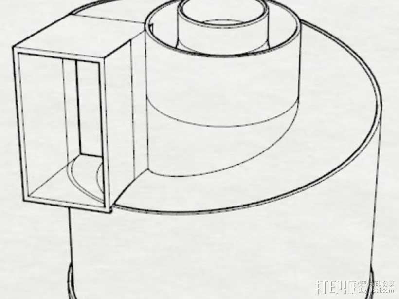 旋风颗粒除尘器  3D模型  图2