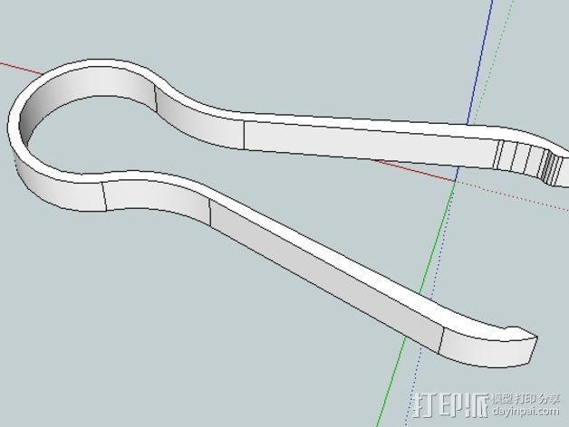 镊子/钳子 3D模型  图2
