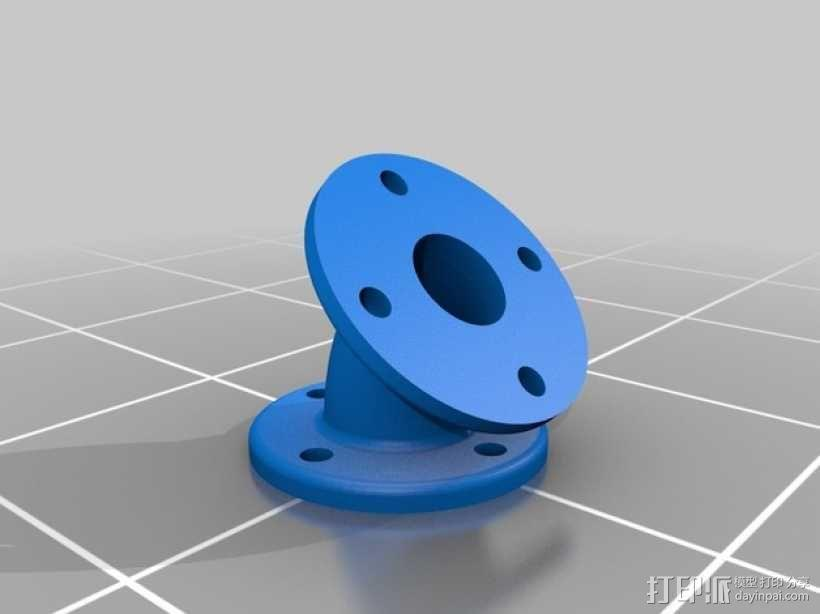 弯头法兰 3D模型  图1