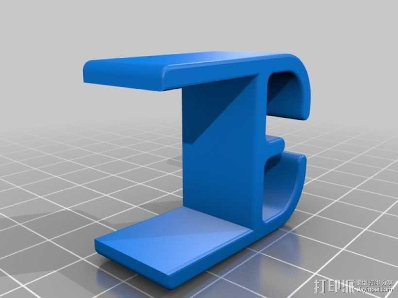 线缆固定夹 3D模型  图2