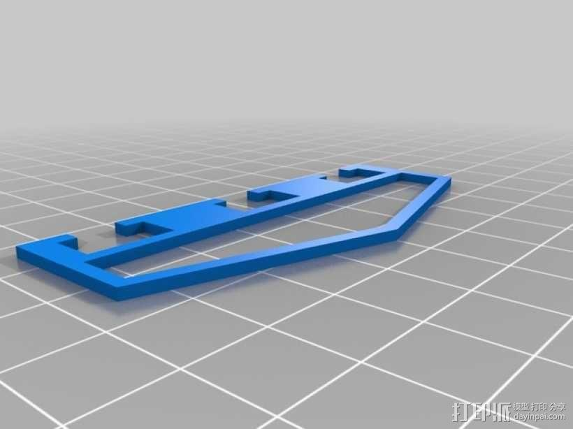 Proxxon MF70驱动支架 3D模型  图2
