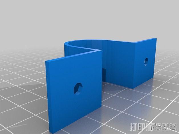 参数化鞍形管夹 3D模型  图1