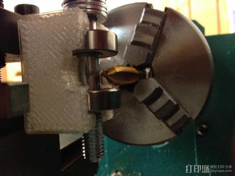 小型车床螺丝切割模具 3D模型  图2