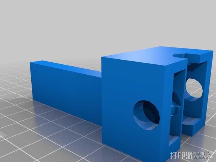 小型车床螺丝切割模具 3D模型  图3