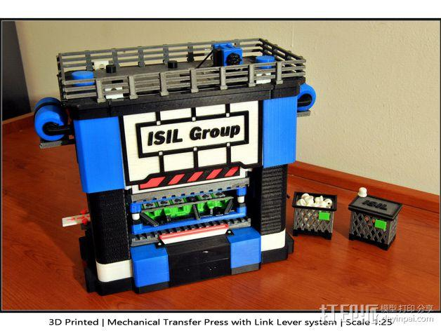 机械多工位压力机 3D模型  图1