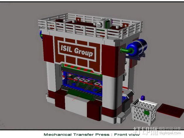 机械多工位压力机 3D模型  图3