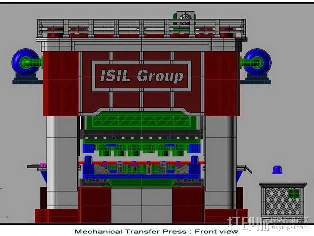 机械多工位压力机 3D模型  图2