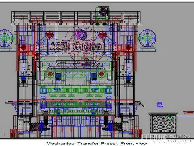 机械多工位压力机 3D模型  图22